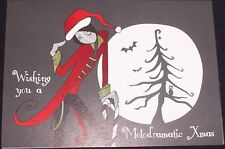 """Unique Emo/Goth CHRISTMAS CARD """"Melodramatic"""" with ENVELOPE Blank inside"""