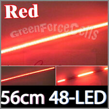 56cm 48-LED Waterproof Flash Car knight rider strip lights SMD Red