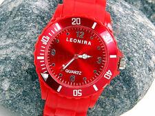 Neu+rot+Siliconuhr+Damenuhr+Herrenuhr+unisex+Silicon+Uhr+Armbanduhr+Watch+