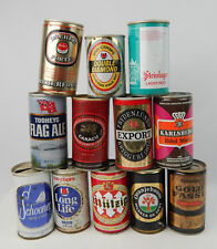 Lot vintage Steel beer cans Double Diamonds caracu tooheys schooner gold fassl