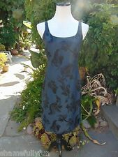 Banana Republic Womens Dress Navy With Black Flowers Silk Blend Lined Size 6