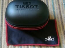 Tissot NEW LARGER SIZE watch storage/travel box and cushion and branded cloth.