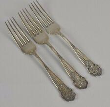 Sterling Silver Towle Georgian 3 Dinner Forks Pierced Monogram B Flatware