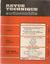 REVUE TECHNIQUE AUTOMOBILE 249 RTA 1967 FORD TAUNUS 17M 20M 20MTS PEUGEOT 404 ES