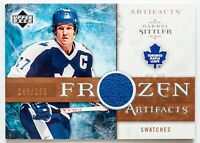 DARRYL SITTLER GAME USED JERSEY CARD UPPER DECK ARTIFACTS SWATCHES /250 LEAFS