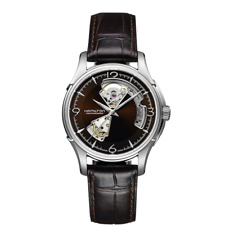 *BRAND NEW* Hamilton Men's Jazzmaster Open Heart Auto Brown Dial Watch H32565595
