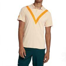 Nike Court Roger Federer RF Advantage Tennis Polo Sz S Peach 939080 838