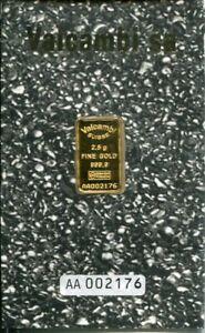 VALCAMBI SUISSE - Goldbarren mit 2,5g Feingold