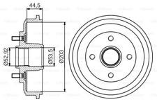 2x Bremstrommel für Bremsanlage Hinterachse BOSCH 0 986 477 266