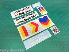 Raleigh Team Mini brûleur Custom Decal Set Old School Bmx stickers