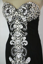 NWT Jovani Size 2 Ball Gown Long Strapless Prom Formal $750 Dress Mermaid Black