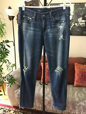 AG Adriano Goldschmied sz 28R Stretch Distressed THE BEAU Slouchy Skinny Jeans