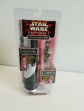 Star Wars Episode 1 Collectors Watch - C-3PO with Qui-Gon Jinn Lightsaber Case
