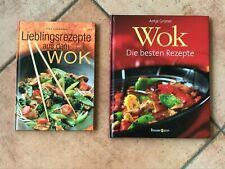 2 x Kochbuch Kochbücher Wok Gerichte