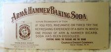 Estate Sale ~ Vintage Advertising Ink Blotter - Arm & Hammer Baking Soda