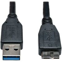 Tripp Lite Usb 3.0 Superspeed Device Cable [a To Micro-b M/m] Black, 1-ft. - Usb