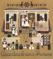 Cross Stitch Chart / Pattern ~ Told In A Garden Amish Grandmother's House #TG43