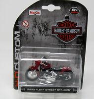 Modell Motorrad 1:24 Harley-Davidson 2000 FLSTF Street Stalker met.  dunkelrot