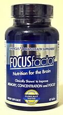 Focus Factor - Nutrition for the Brain 60 Tablets Exp 1/18 ~ New, Factory Sealed