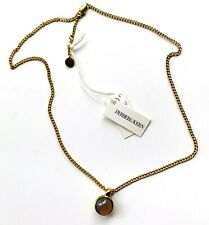BNWT Dyrberg/Kern Lone SG Gold Tone Necklace with Grey Opal Pendant