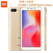Xiaomi Redmi 6 4G Unlocked Mobile Phone 5.45'' Helio P22 3GB 64GB AI Cam 3000mAh