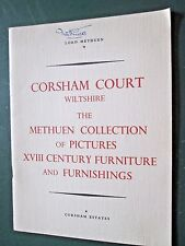 Corsham Court Wiltshire -an historical account  lists of pictures /furniture '58