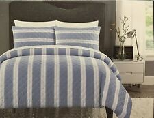 Hotel Collection 3PC King Duvet Cover & Sham Set, Yarn Dyed & Woven - NIP