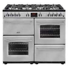 Belling Farmhouse 100G 100cm Gas Range Cooker 7 Burners Silver 444444140 - NEW