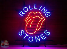 "Rolling Stones Sticky Fingers Pub Bar Neon Sign 20""x16"" From USA"