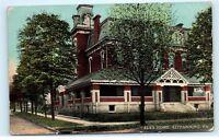 Elks Home Kittanning Pennsylvania Brick Building House Vintage Postcard B03