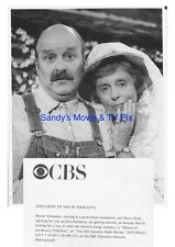 WERNER KLEMPERER, NANCY KULP ORIGINAL TV Photo RETURN OF THE BEVERLY HILLBILLIES