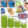 Waterproof Sports Self-Adhesive Cohesive Wrap Bandage Rap Tape Elastic Stick UK