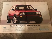 Vintage 1988 VOLKSWAGEN VW GTI 16V Print Ad RARE