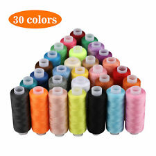 30 Spools Mixed Colors 100% Polyester Sewing Quilting Threads Set Useful Home