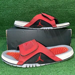 Nike Jordan Hydro IV Retro Varsity Red Slides 532225-002 Size - 12