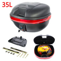 35L MOTORCYCLE TOP BOX Motorbike Helmet Luggage Storage Case Moped Universal