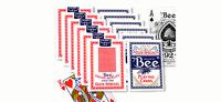 Bee Display 12 Stück - US Spielkarten Bicycle Poker regular oder jumbo Index