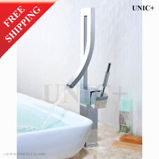 Modern Bathroom Faucets, Curved Spout Faucet Bathroom Waterfall Faucet, BVF002