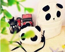Girl Bear Cartoon Panda Canvas Plush Backpack Rucksack Shoulder School Bags-W