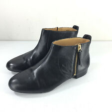 Nin West 7.5 Black leather Ankle Boots Perfect PR side zipper Career