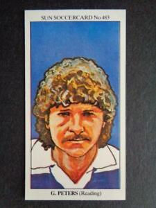 The Sun Soccercards 1978-79 - Gary Peters - Reading #483