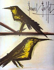BUFFET Bernard : Les oiseaux -  LITHOGRAPHIE originale signée,1967 par Mourlot