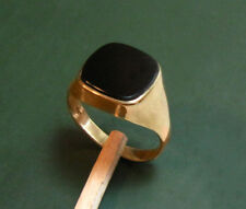 Klassischer alter 333er Gold HERREN-SIEGELRING m. ONYX-Platte • 4,35 g