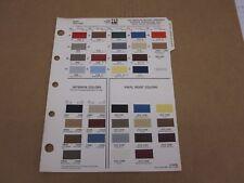 1979 AMC Pacer Concord Spirit Matador paint color chip chart Ditzler sheet