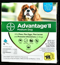 Advantage Ii Topical Flea Treatment 6 doses for Medium Dogs, Dog sizes 11-20 lbs
