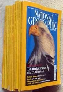 REVISTA NATIONAL GEOGRAPHIC EN ESPAÑOL - 12 EJEMPLARES AÑO 2002 COMPLETO - VER
