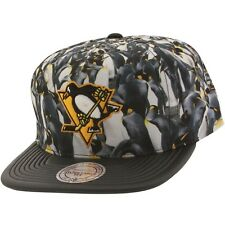$35 Mitchell And Ness Pittsburgh Penguins Localized Snapback Cap black