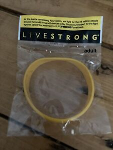 NIKE Livestrong yellow Lance Armstrong Wristband - adult size