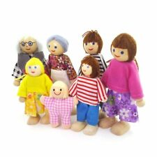 Puppenhaus Puppenfamilie Miniaturen Biegepuppen Holz Puppenhauspuppen 2228
