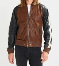 Leather Bomber Coats & Jackets for Men